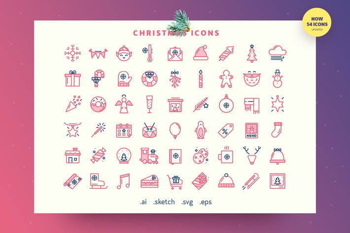 Thumbnail for Festive — Christmas Outline Icon Set