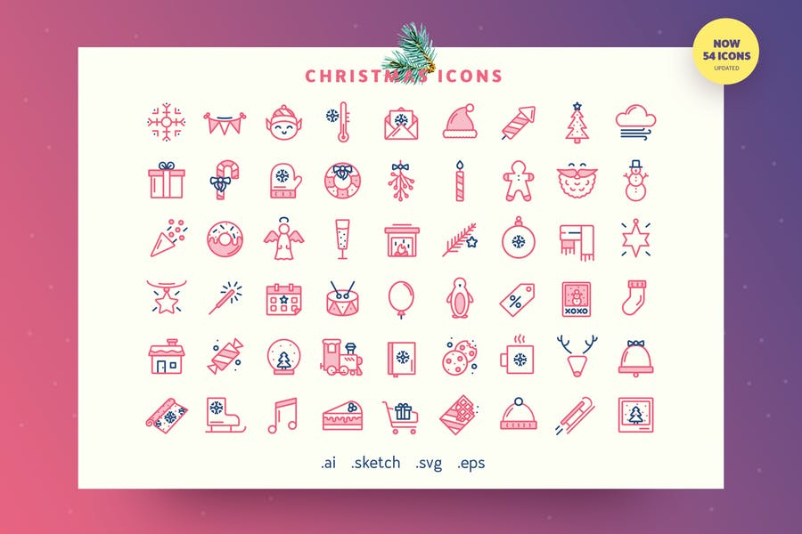 Festive — Christmas Outline Icon Set