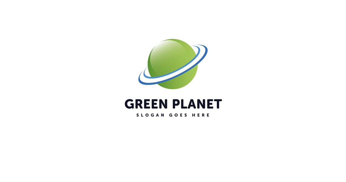 Download Green Planet Logo Vector Template by Pixasquare