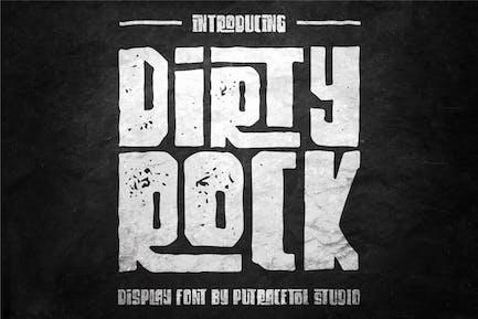 Dirty Rock - Unique Display Font
