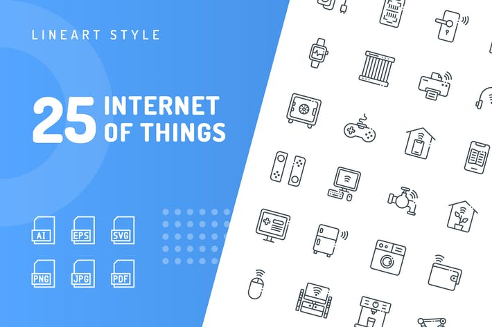 Thumbnail for Internet of Things Line Icons