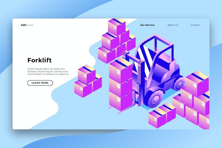 Forklift - Banner & Landing Page