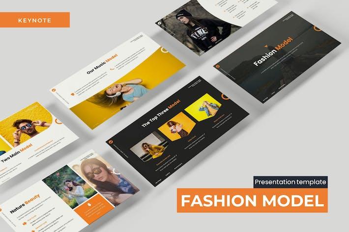 Thumbnail for Модель моды - Шаблон Keynote