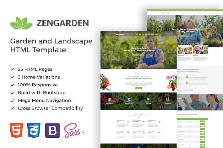 Thumbnail for Zen Garden - Garden and Landscape HTML Template
