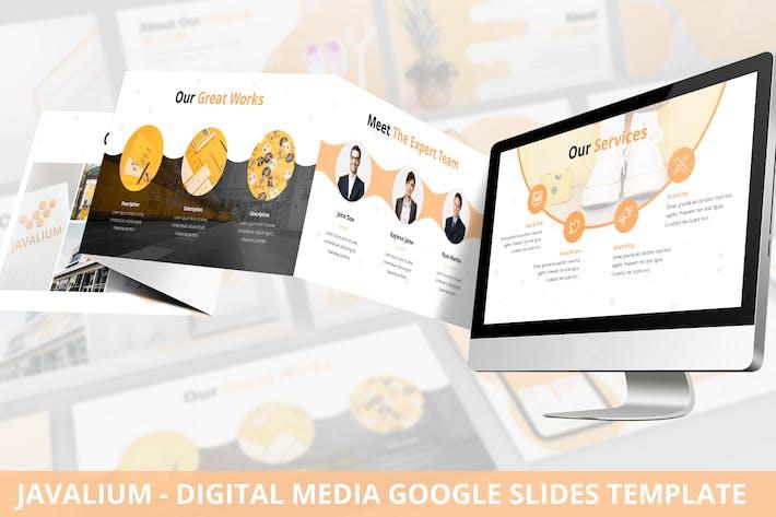 Thumbnail for Javalium - Digital Media Google Slides Template