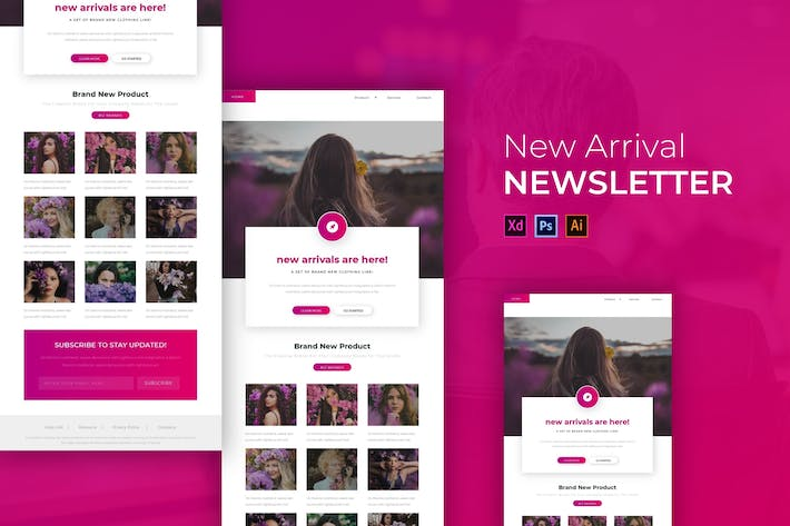 Thumbnail for The New Arrival | Newsletter Template