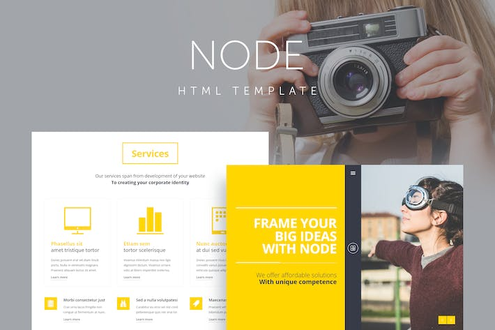Thumbnail for Node - Responsive Portfolio Template