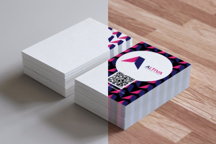 Thumbnail for Realistic Business Card Mockups for EU Size