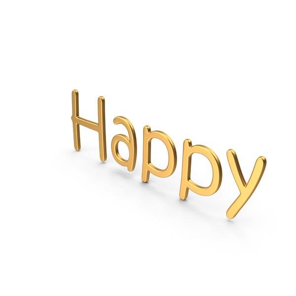 Word Happy Gold