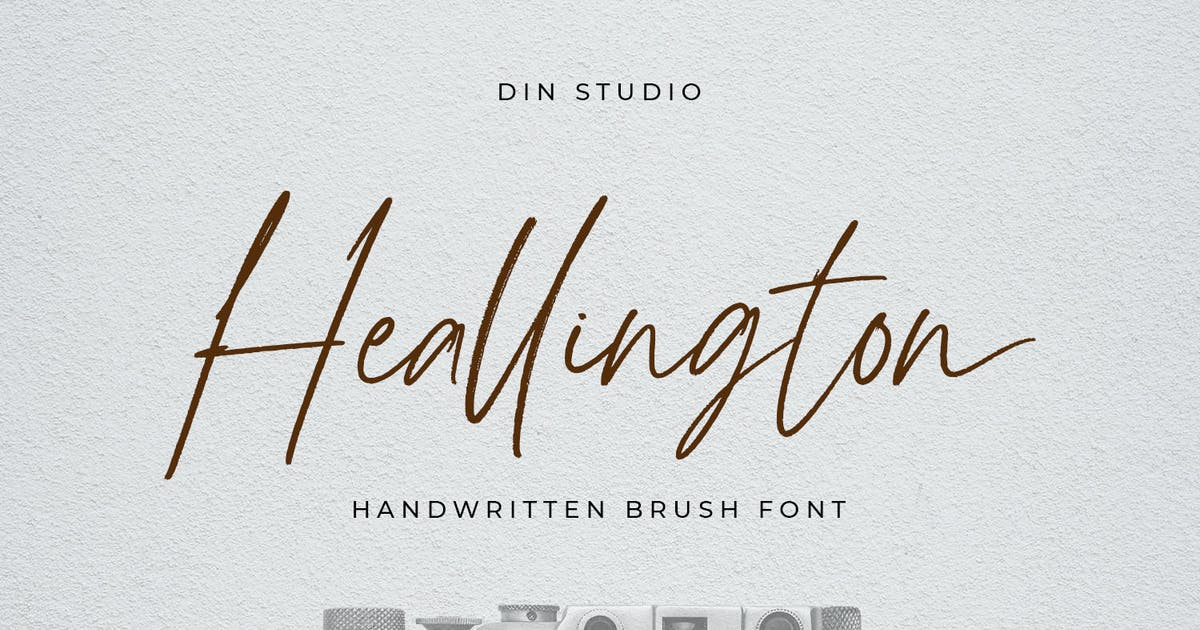 Download Heallingthon-Handwritten Brush Font by YumnaStudio