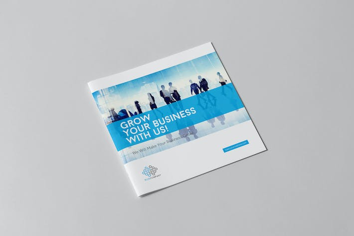Thumbnail for Blue Corporate Square Brochure
