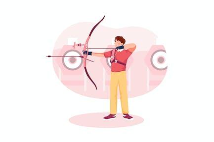 Archery - Olympic Sport Illustration Concept