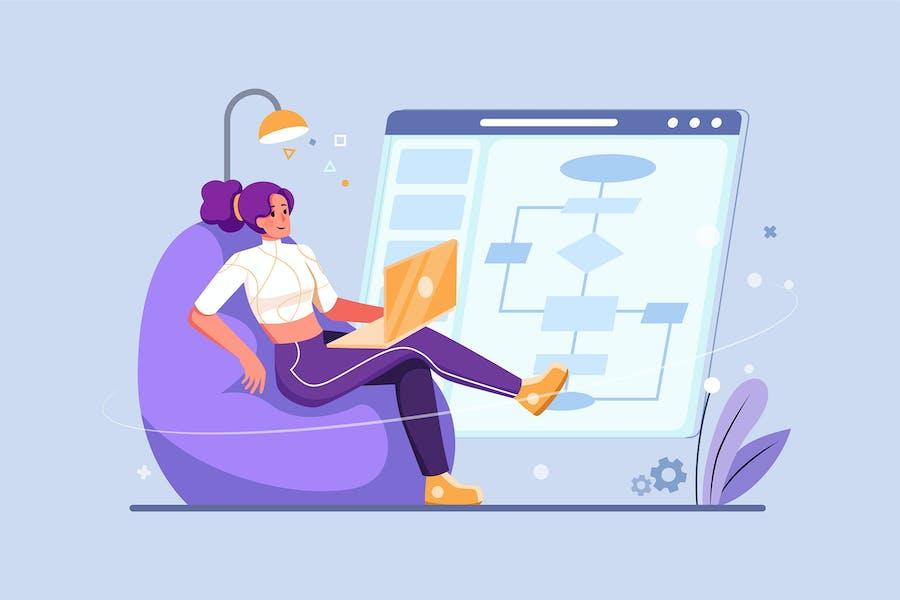 Computer Algorithm Illustration Concept