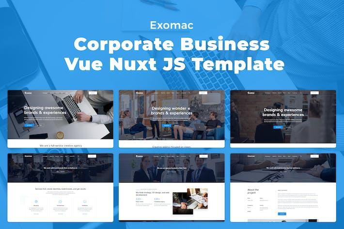 Thumbnail for Exomac – Corporate Business Vue Nuxt JS Template