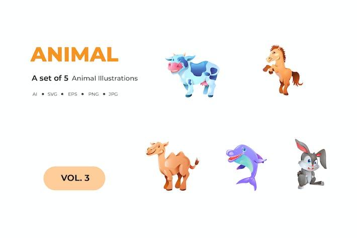 Thumbnail for Cartoon Tier Illustrationen
