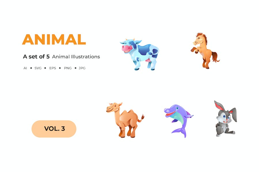 Cartoon Animal Illustrations - product preview 0