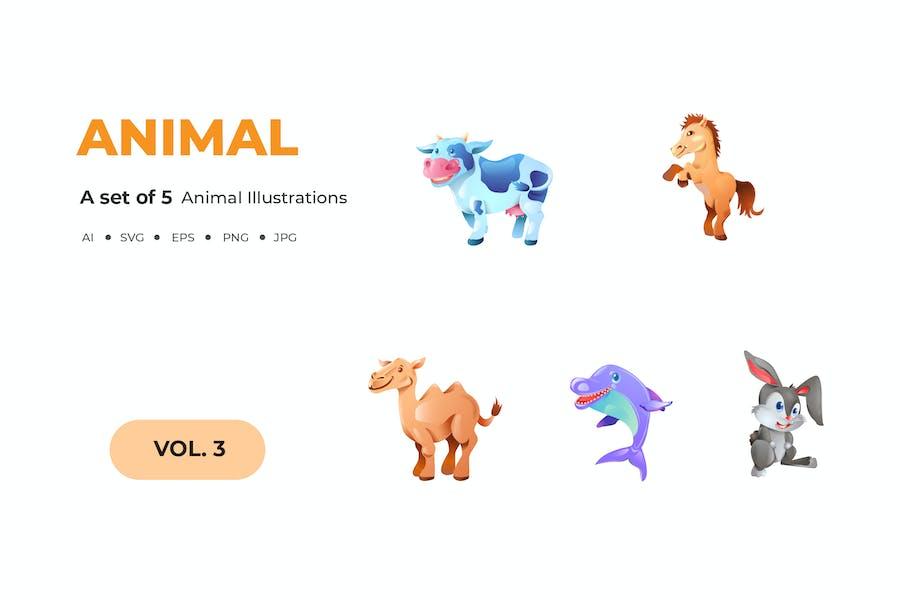 Cartoon Animal Illustrations