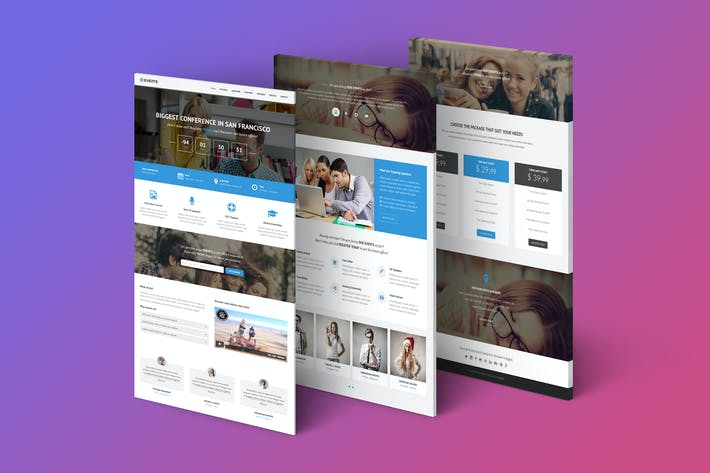Thumbnail for Events - Responsive Landing Page Template