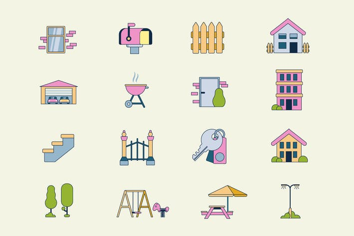 Cover Image For Housing Icons