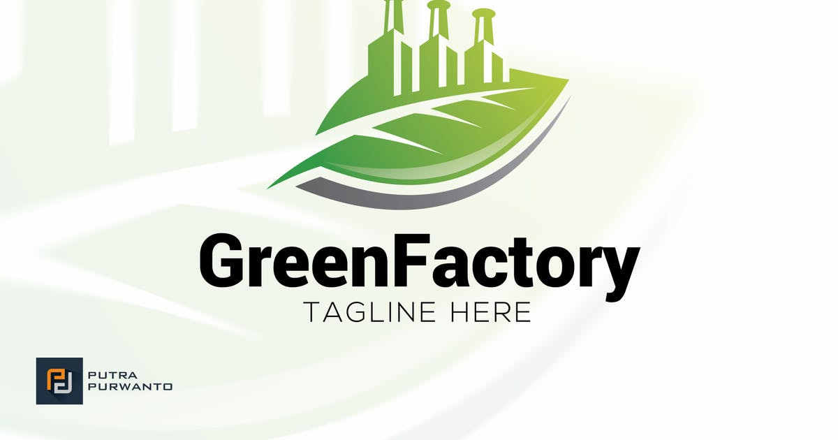 Green Factory - Logo Template by putra_purwanto
