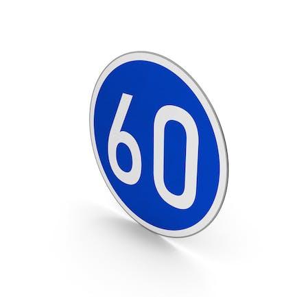 Road Sign Minimum Speed Limit 60
