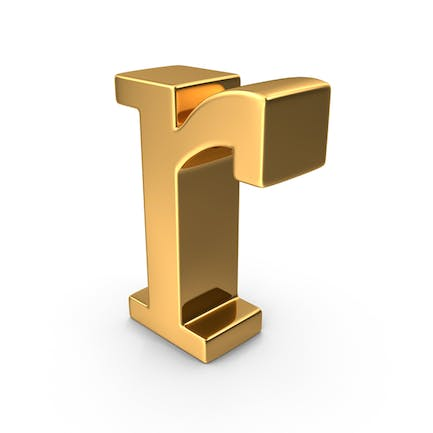 Gold Small Letter r