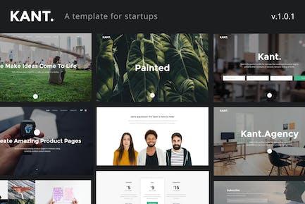Kant - Eine mehrzweck-HTML5-Vorlage für Startups