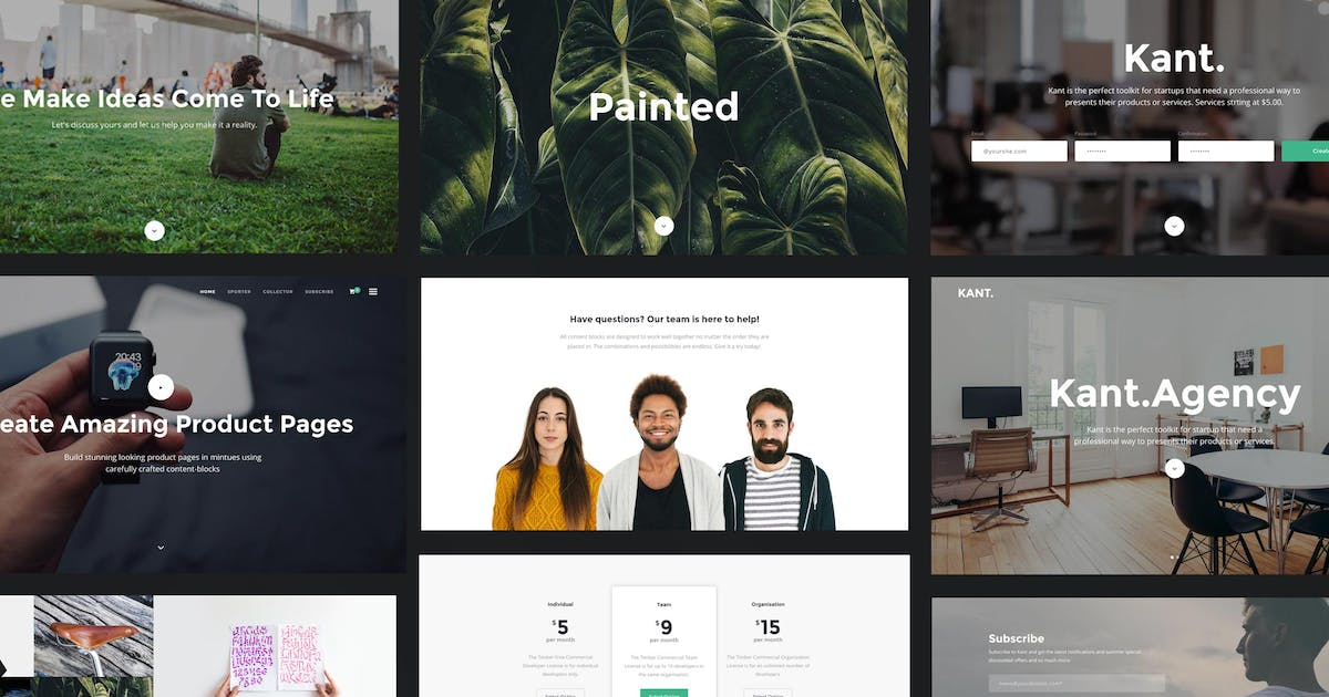Download Kant - A Multipurpose HTML5 Template For Startups by ThemeMountain