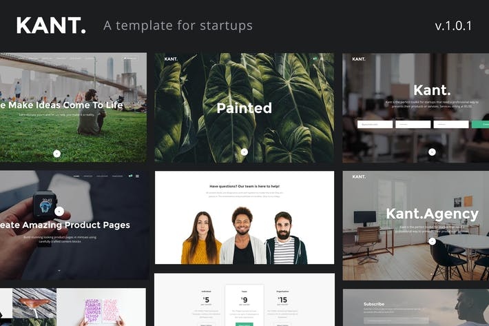 Download website templates envato elements thumbnail for kant a multipurpose html5 template for startups reheart Gallery