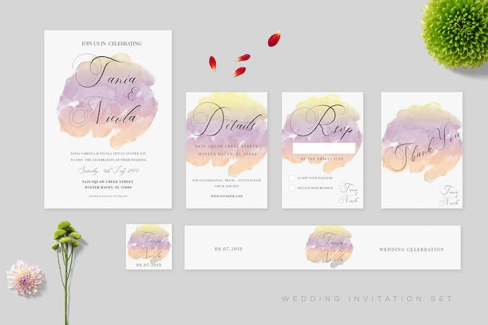 Thumbnail for Wedding Invitation Set Vol.01