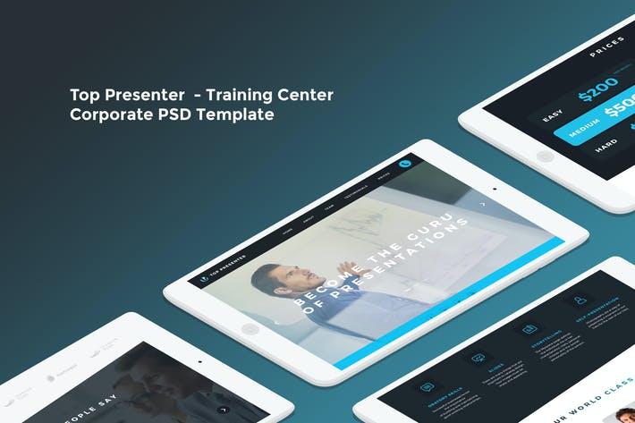 Thumbnail for Top Presenter - Training Center PSD Template