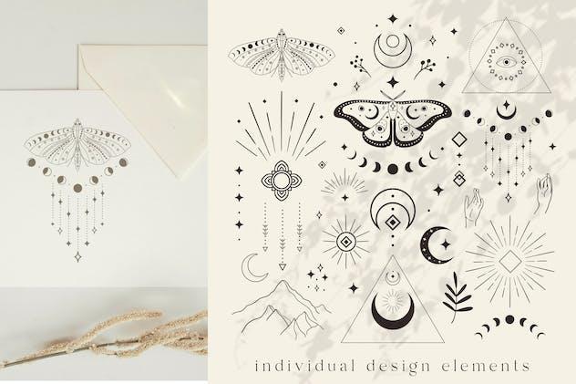 Divine Design Elements. Illustrations. Esoteric.