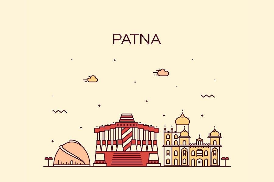 Patna skyline, India
