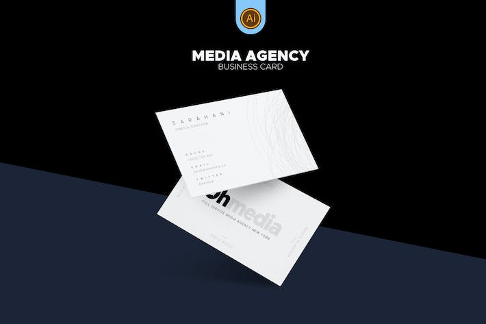 Thumbnail for Media Agency Business Card 03
