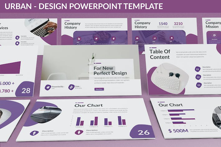 Thumbnail for Urban - Design Powerpoint Template