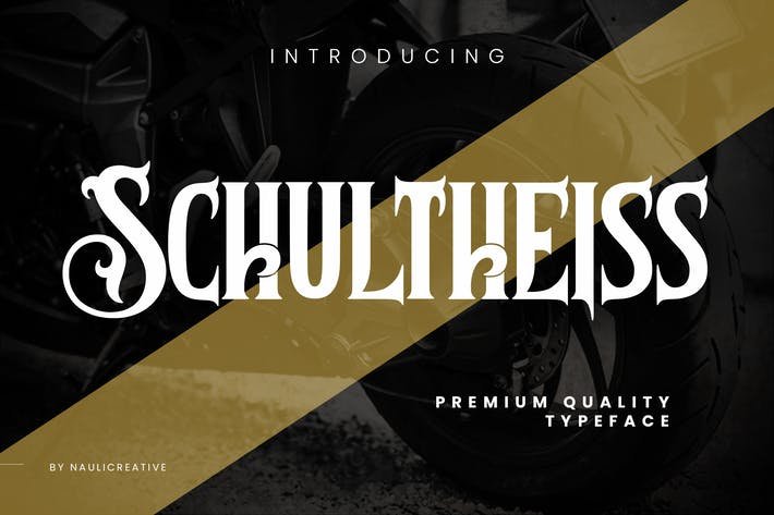 Thumbnail for Schultheiss - Vintage Decorative Typeface