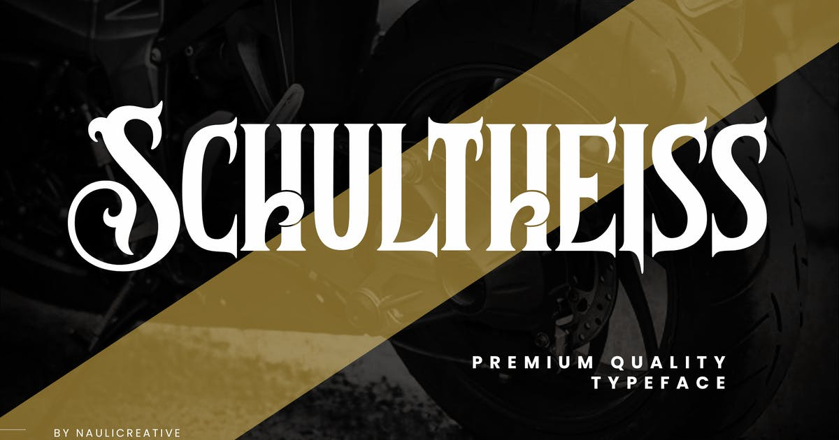 Download Schultheiss - Vintage Decorative Typeface by naulicrea