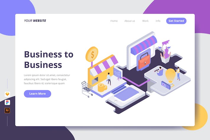 Thumbnail for Business to Business - Landing Page