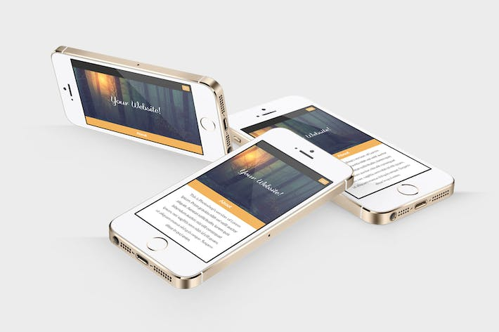 Cover Image For Responsive Phone Device Mockups Pack