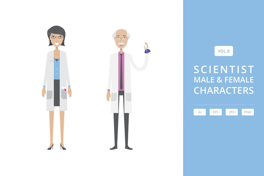 Scientist - Male & Female Characters Vol.9