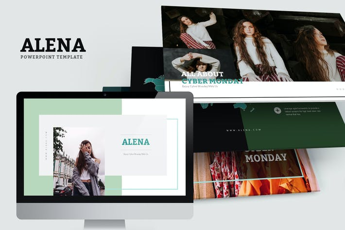 Thumbnail for Alena : Minimal Style Powerpoint Template