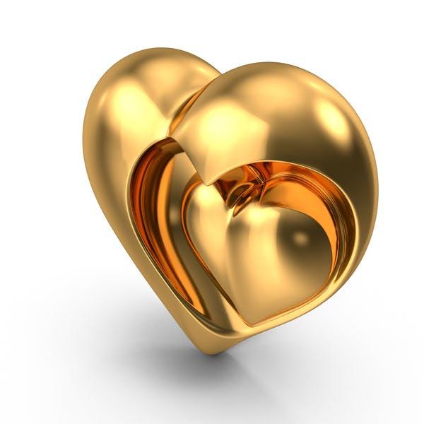 Thumbnail for Heart Sculpture Gold