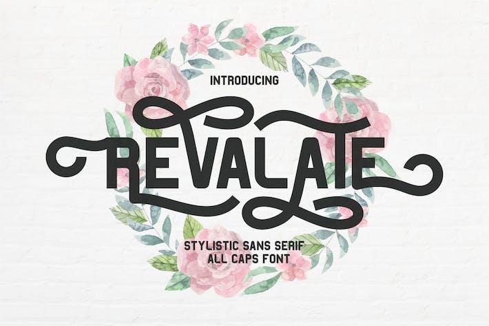 Thumbnail for Revalate - Stylistic Sans Serif Font