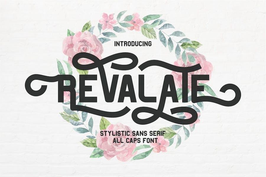 Revalate - Stylistic Sans Serif Font