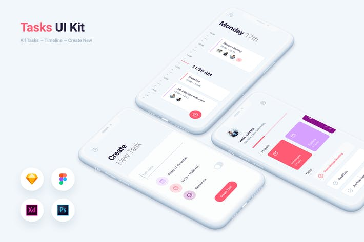 Thumbnail for To do Tasks Mobile App UI Kit Template
