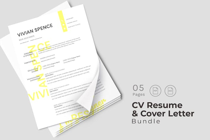 Thumbnail for Pearl CV Resume Design