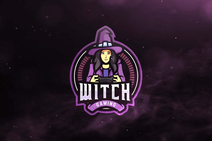 Thumbnail for Witch Gaming Sport and Esports Logos