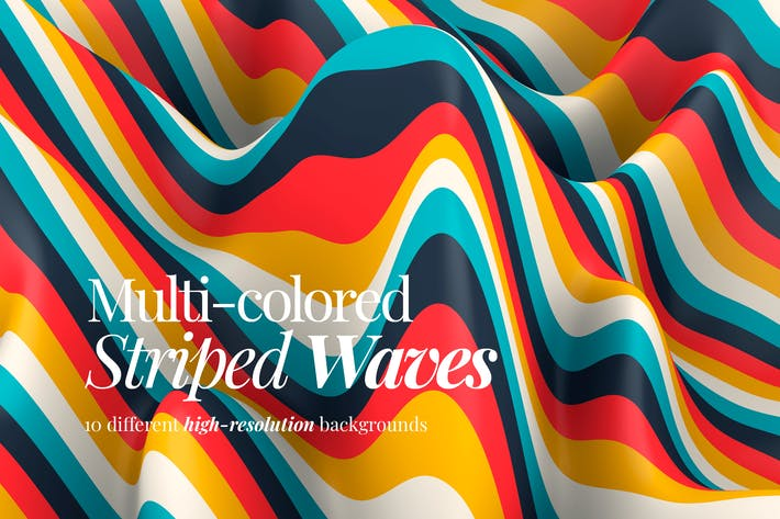 Thumbnail for Multi-colored Striped Waves Backgrounds
