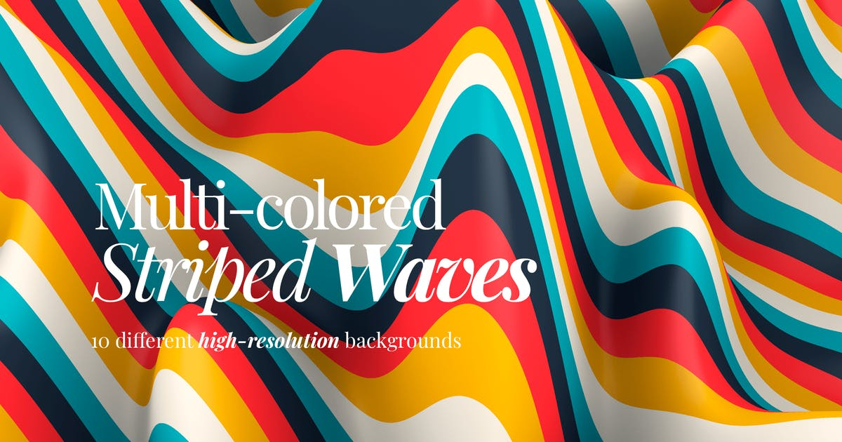Download Multi-colored Striped Waves Backgrounds by themefire