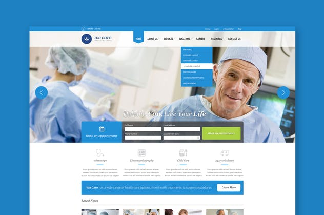 We Care - Premium Medical PSD Template - product preview 0
